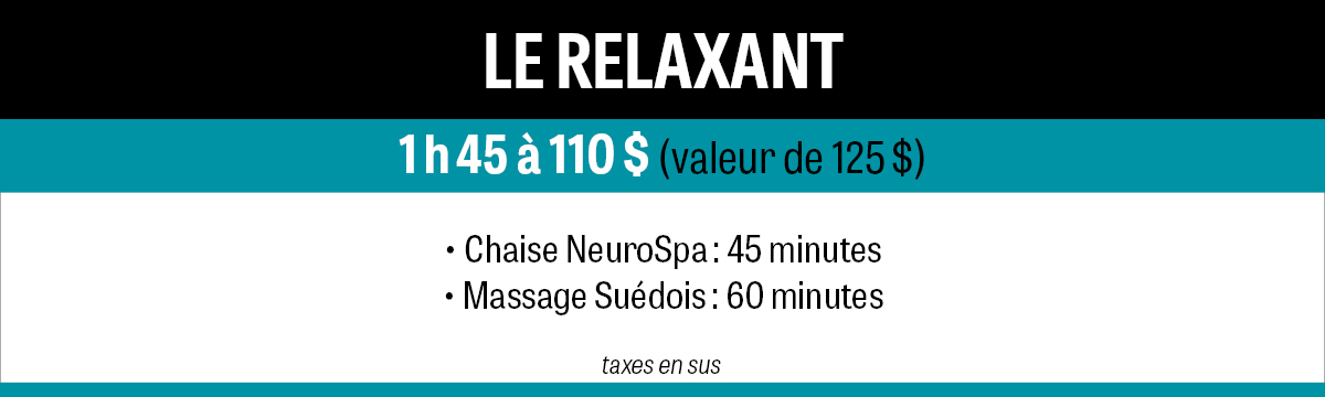 Forfait Relaxant